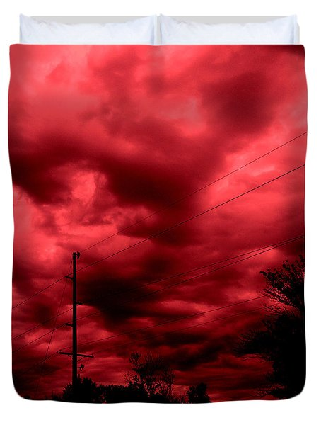 Abyss Of Passion Duvet Cover by Jeff Iverson