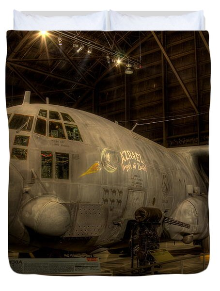 Ac-130 Gunship Duvet Cover