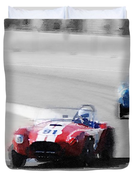Ac Cobra Racing Monterey Watercolor Duvet Cover