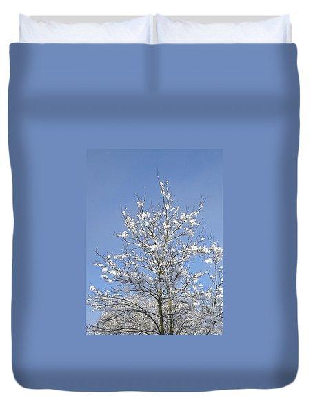 Ash Tree In Winter Duvet Cover
