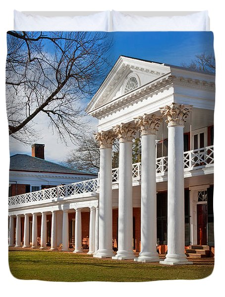 Academical Village At The University Of Virginia Duvet Cover by Melinda Fawver