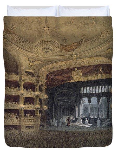 Academie Imperiale De Musique Paris Duvet Cover by Louis Jules Arnout