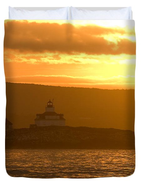 Acadia Lighthouse  Duvet Cover by Sebastian Musial