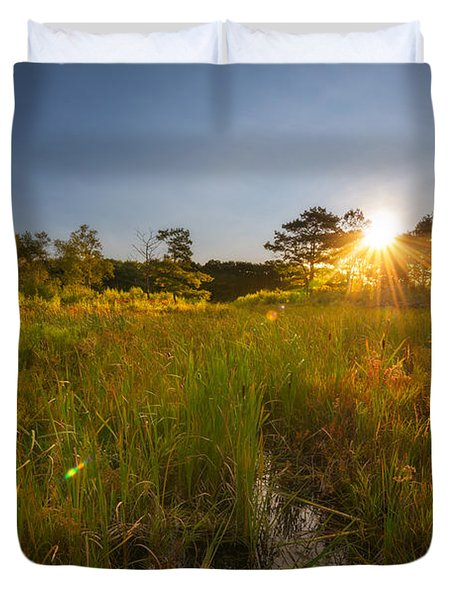 Acadia Marsh Sunrise  Duvet Cover