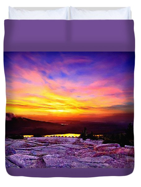 Acadia National Park Cadillac Mountain Sunrise Forsale Duvet Cover