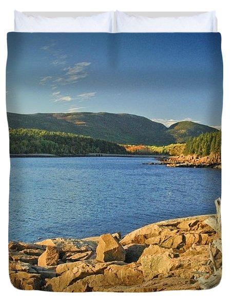 Acadia Otter Cove Duvet Cover by Alana Ranney