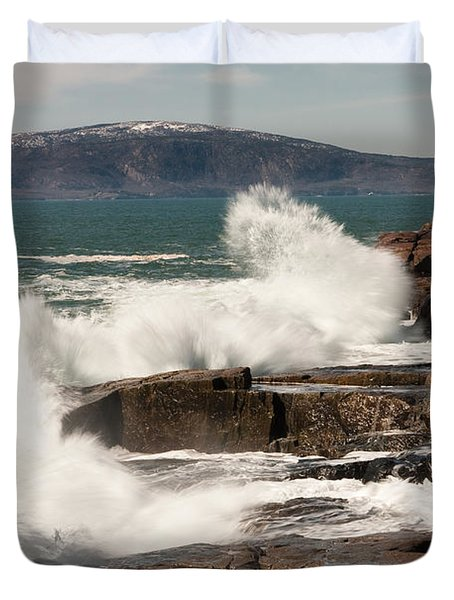 Acadia Waves 4198 Duvet Cover by Brent L Ander
