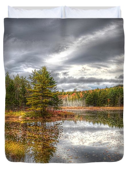 Acadia With Autumn Colors Duvet Cover by Wanda Krack