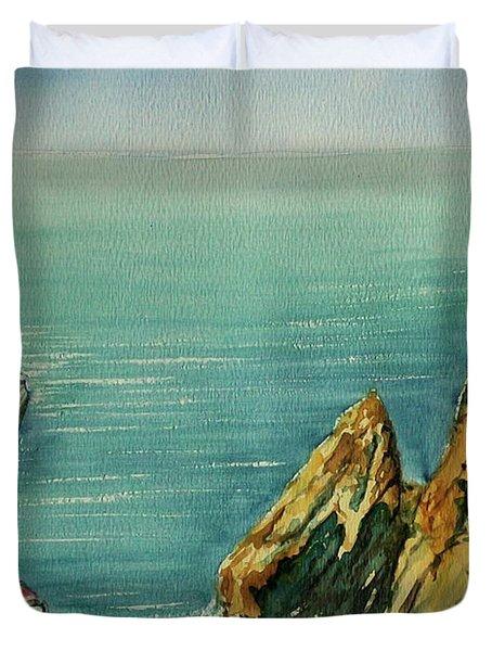Acapulco Cliff Diver Duvet Cover