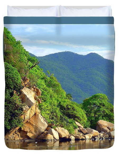 Duvet Cover featuring the photograph Acapulco Lagoon by Jim Whalen