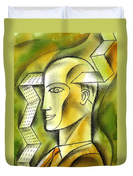 Accaunting  Duvet Cover by Leon Zernitsky