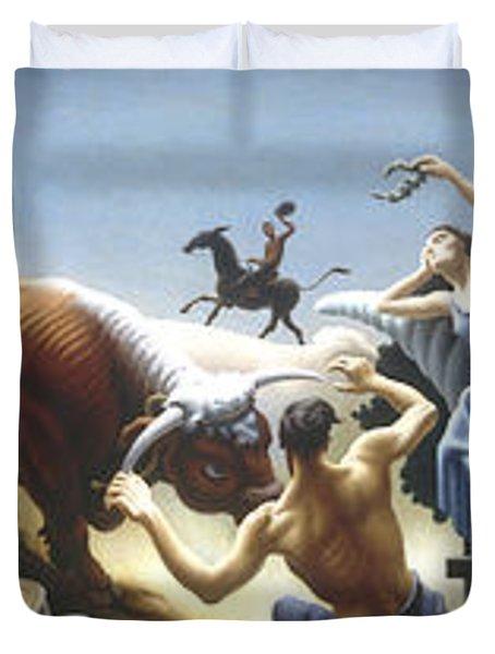 Achelous And Hercules Duvet Cover
