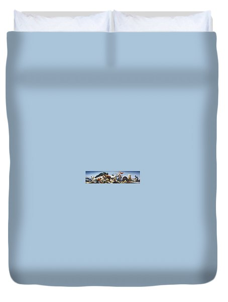 Achelous And Hercules Duvet Cover