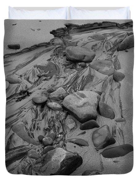 Achnahaird Beach Bw Duvet Cover