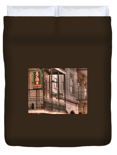Acme Oyster House Duvet Cover by David Bearden