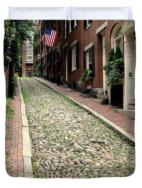 Acorn Street Boston Duvet Cover