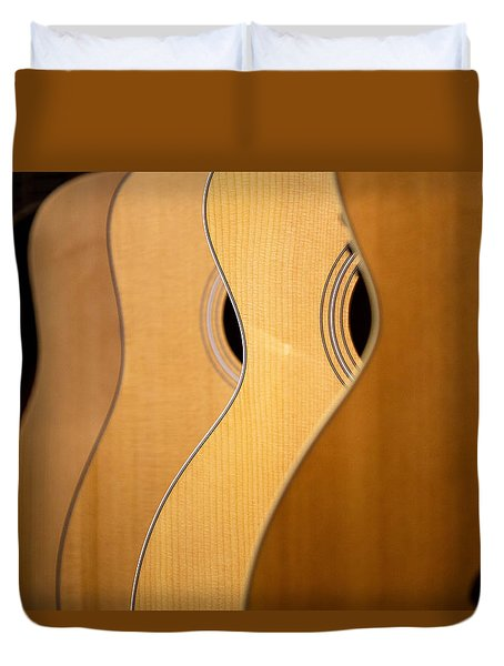Duvet Cover featuring the photograph Acoustic Design by John Rivera