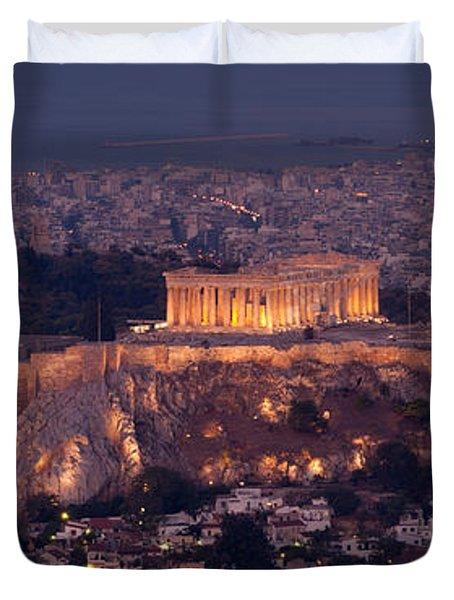 Acropolis Of Athens, Athens, Attica Duvet Cover