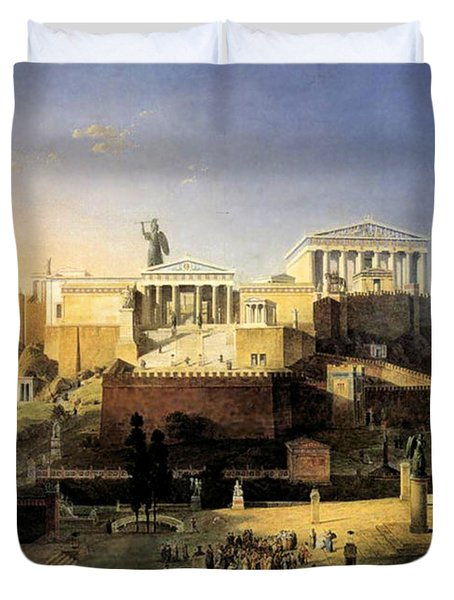 Acropolis Of Athens Duvet Cover