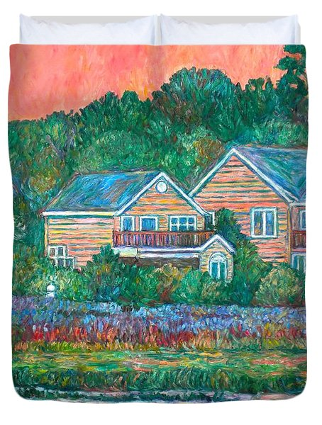 Duvet Cover featuring the painting Across The Marsh At Pawleys Island       by Kendall Kessler