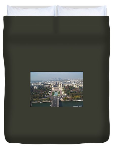 Duvet Cover featuring the photograph Across The Seine by Barbara McDevitt