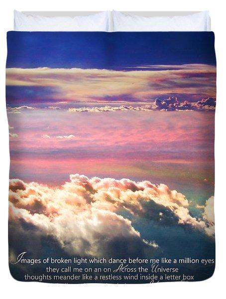 Across The Universe Duvet Cover