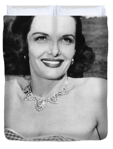 Actress Jane Russell Duvet Cover