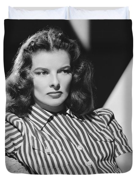 Actress Katharine Hepburn Duvet Cover