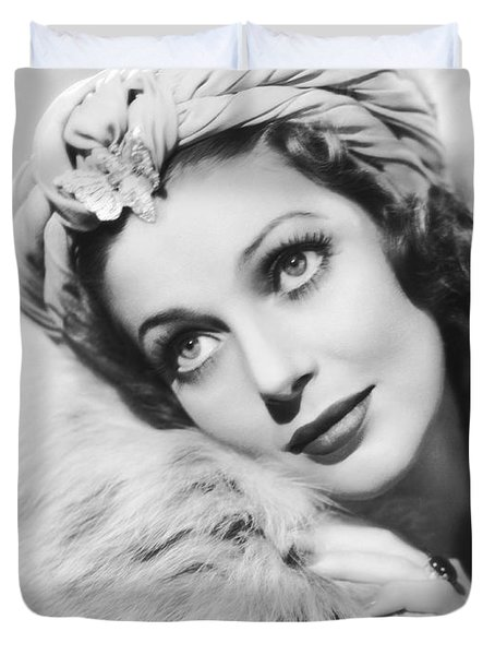 Actress Loretta Young Duvet Cover