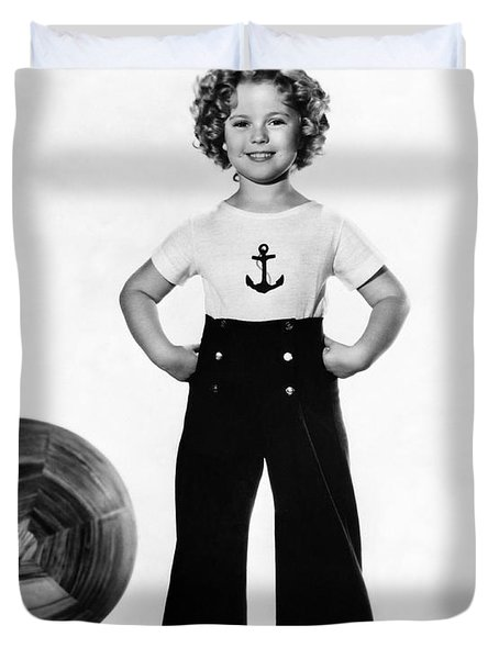 Actress Shirley Temple Duvet Cover by Underwood Archives