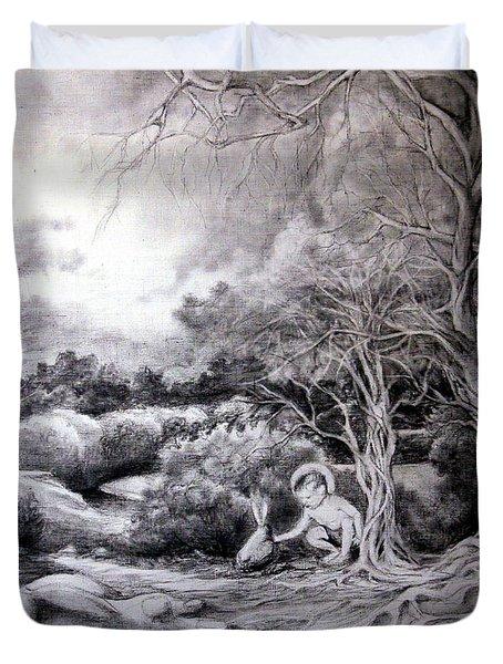 Adam In Heaven Duvet Cover by Mikhail Savchenko