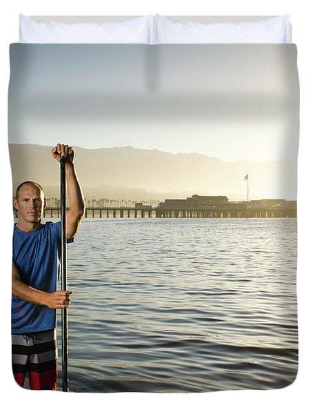 Adam Kircaldie , Athletic Portrait Duvet Cover