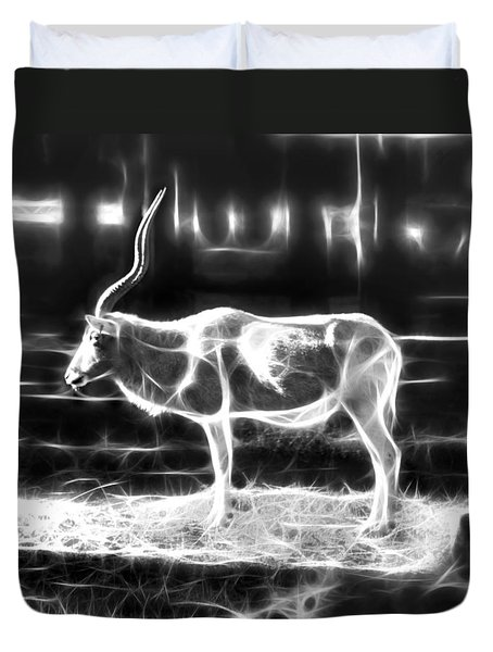 Addax Spirit Of The Desert Duvet Cover by Miroslava Jurcik