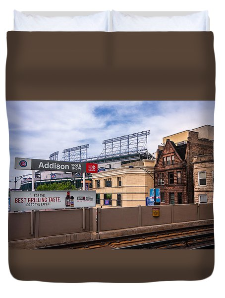 Addison Street Station Duvet Cover