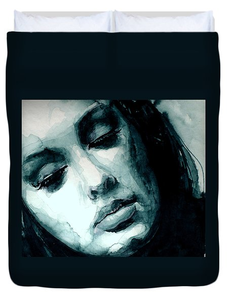 Adele In Watercolor Duvet Cover by Laur Iduc