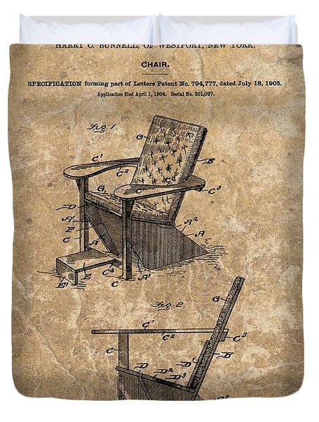 Adirondack Chair Patent Duvet Cover
