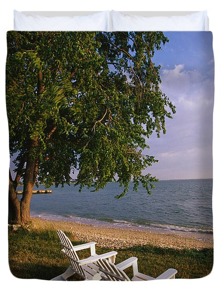 Adirondack Chairs Duvet Cover