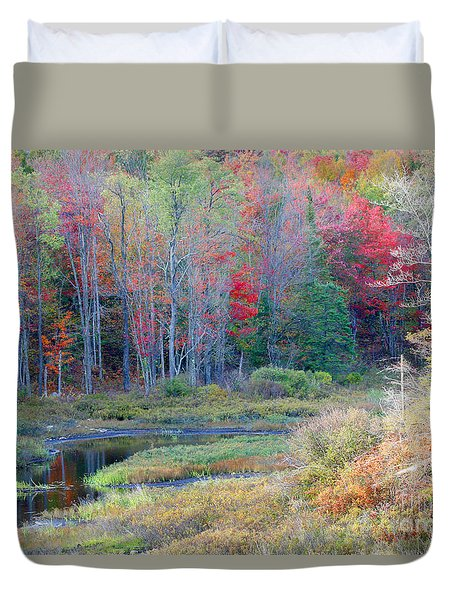 Adirondack Fall Duvet Cover by Mariarosa Rockefeller