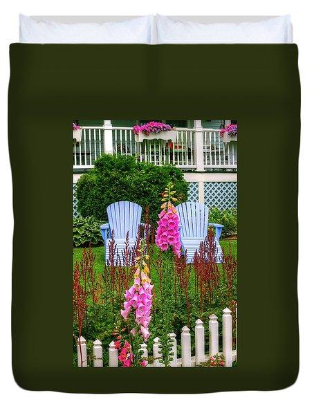 Adirondack Garden Duvet Cover