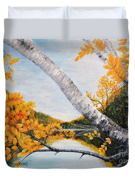 Adirondacks New York Duvet Cover by Holly Carmichael