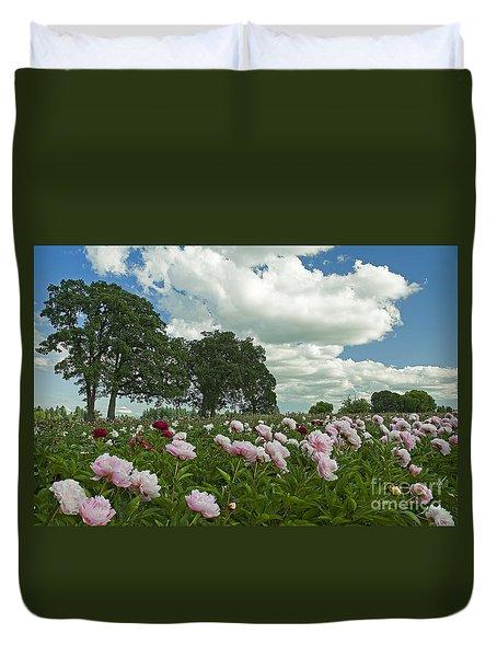 Adleman's Peony Fields Duvet Cover