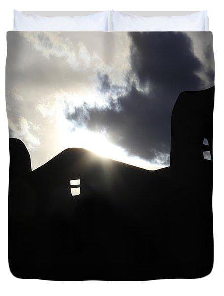 Adobe In The Sun Duvet Cover by Mike McGlothlen