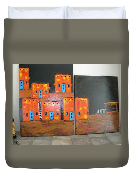 Adobes Duvet Cover by Sharyn Winters