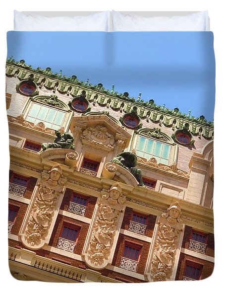 Duvet Cover featuring the photograph Adolphus Hotel - Dallas #1 by Robert ONeil
