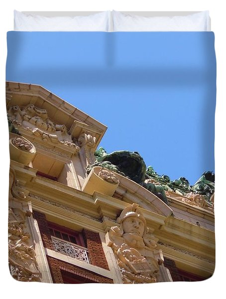 Duvet Cover featuring the photograph Adolphus Hotel - Dallas #2 by Robert ONeil