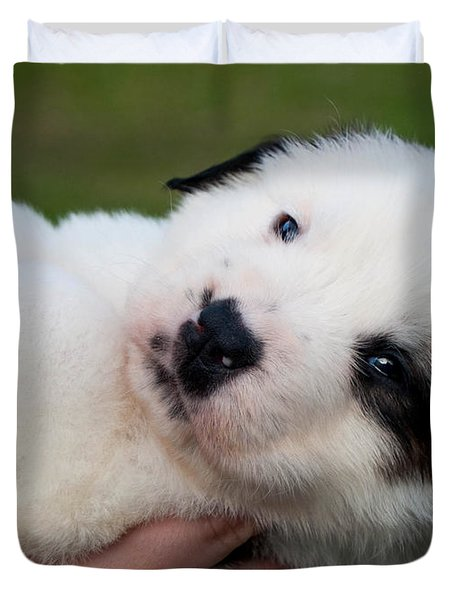 Adorable Hand Full Duvet Cover by Mechala  Matthews