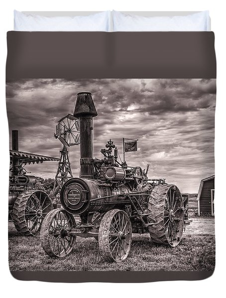 Advance Steam Traction Engine Duvet Cover
