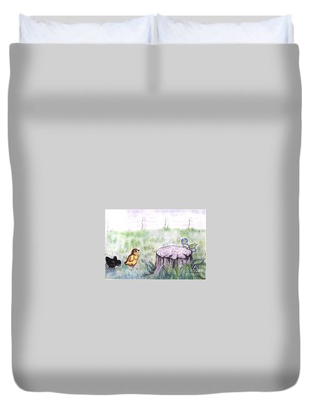 Adventurous Chicks Duvet Cover