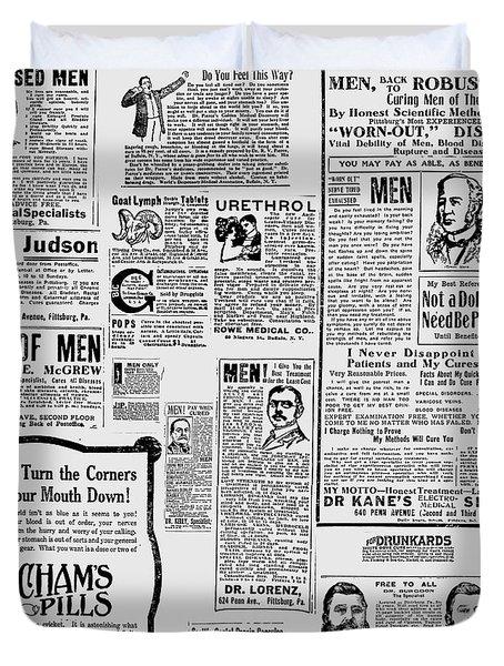 Advert - Edwardian Mens Health Duvet Cover