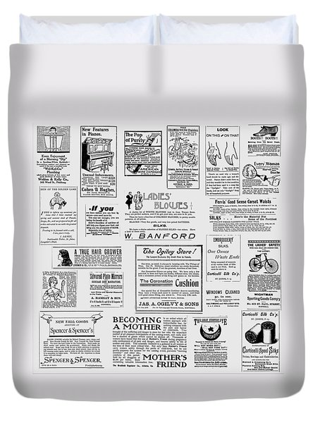 Advert - For The Ladies Duvet Cover